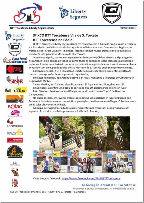 3º XCO BTT Torcatense Vila de S. Torcato